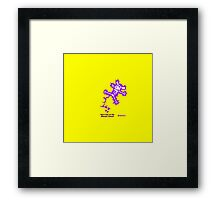 Don't Pee on the Electric Fence Framed Print