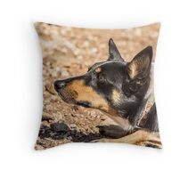 Kelpie stalk Throw Pillow