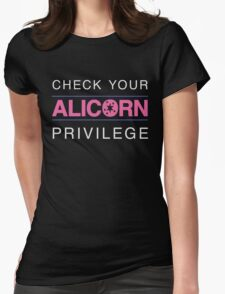 Check Your Alicorn Privilege Womens Fitted T-Shirt