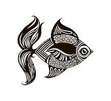 Cartoon fish by Tatsiana Kandrashova