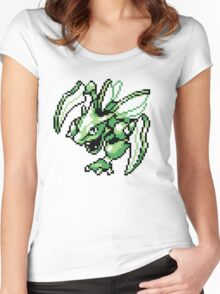 Scyther - Pokemon Red & Blue Women's Fitted Scoop T-Shirt