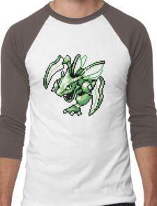 Scyther - Pokemon Red & Blue Men's Baseball ¾ T-Shirt