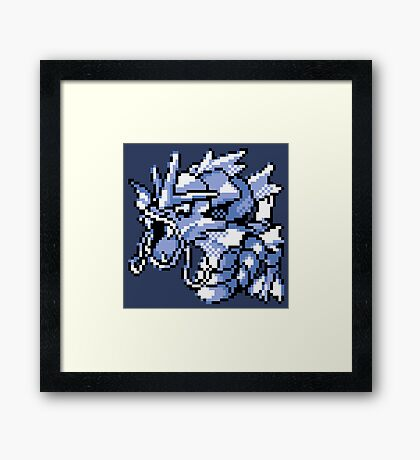 Gyarados - Pokemon Red & Blue Framed Print
