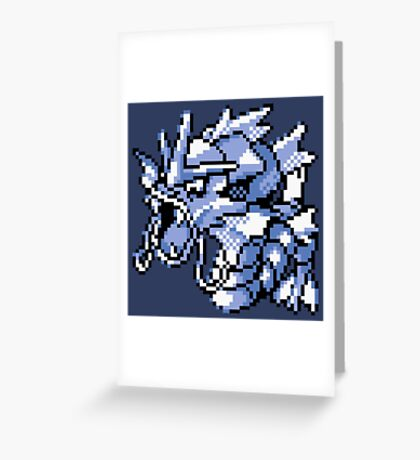 Gyarados - Pokemon Red & Blue Greeting Card