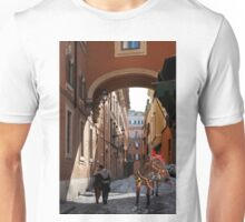 Ancient small street of Rome. Unisex T-Shirt