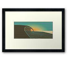 Sunset Peak  Framed Print