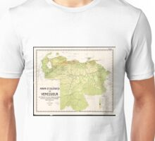 Vintage Map of Venezuela (1920) Unisex T-Shirt