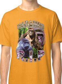 R.I.P. Harambe Vintage Hip-Hop Classic T-Shirt