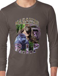 R.I.P. Harambe Vintage Hip-Hop Long Sleeve T-Shirt