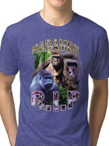 R.I.P. Harambe Vintage Hip-Hop Tri-blend T-Shirt