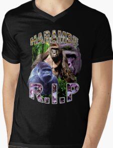 R.I.P. Harambe Vintage Hip-Hop Mens V-Neck T-Shirt