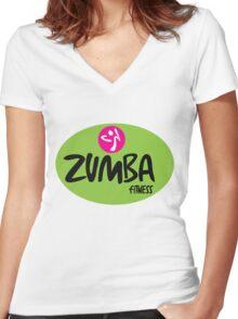 Zumba Fitness Women's Fitted V-Neck T-Shirt