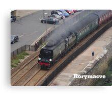 Southern Railway 34067 'Tangmere' at Dawlish Canvas Print