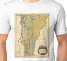 Vintage Map of Vermont (1814) Unisex T-Shirt