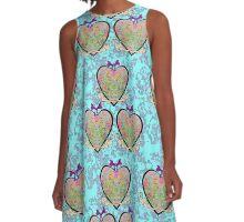 Three Hearts  A-Line Dress