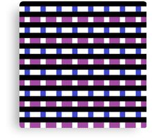 Black, White, Blue, and Purple Pattern Canvas Print