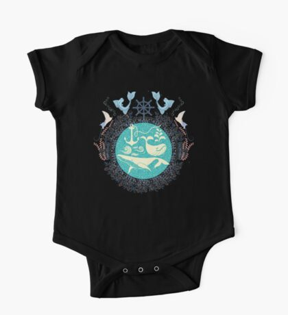 The Paradise: Whales world One Piece - Short Sleeve