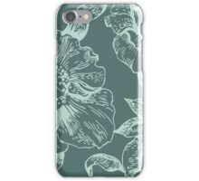 Rustic,teal,shades,floral,pattern,vintage,elegant,chic,dark,grunge iPhone Case/Skin