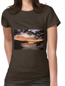 Sunset over Deception Pass, Washington state Womens Fitted T-Shirt