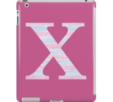 Letter X Blue And Pink Dots And Dashes Monogram Initial iPad Case/Skin