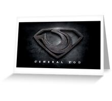 General Zod Greeting Card