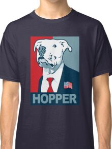 Feel The Hopper (Red White and Hopper) Smaller Print Classic T-Shirt