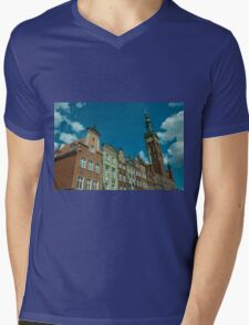 Clock Tower Gdansk  Mens V-Neck T-Shirt