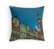 Clock Tower Gdansk  Throw Pillow