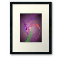 Purple Gray Gentle Abstract Design Framed Print