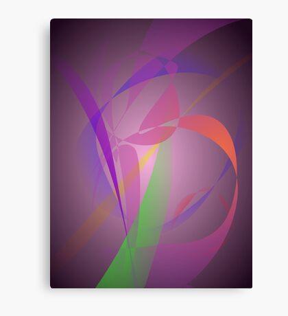 Purple Gray Gentle Abstract Design Canvas Print