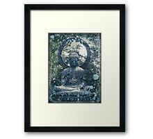 Abstract Zen Buddha Framed Print