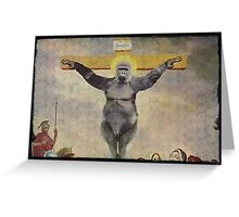 Harambe our Holy father Greeting Card