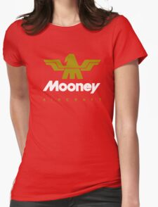 Mooney Vintage Aircraft USA Womens Fitted T-Shirt