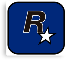 Rockstar North Logo Canvas Print