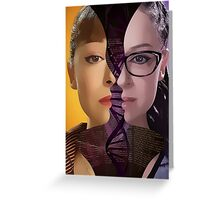 Orphan Black - Sestras  Greeting Card