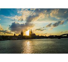 Cologne at sunset  Photographic Print