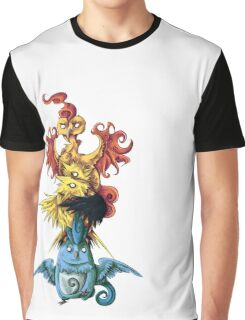 articuno zapdos moltress legendary pokemon tower Graphic T-Shirt