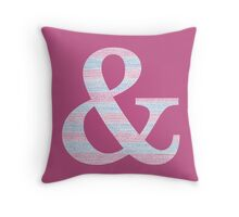 Letter & Ampersand Blue And Pink Dots And Dashes Monogram Initial Throw Pillow