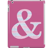 Letter & Ampersand Blue And Pink Dots And Dashes Monogram Initial iPad Case/Skin
