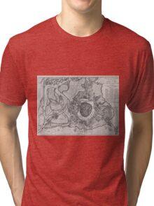 Vintage Map of Vienna Austria (1780) Tri-blend T-Shirt