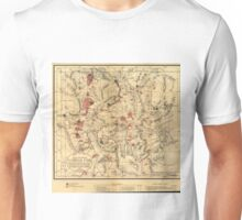 Vintage Map of Yellowstone National Park (1881) Unisex T-Shirt