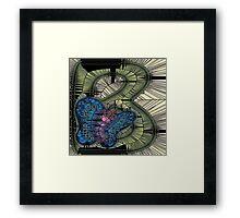Alphabet Mosaic Letters - B Framed Print