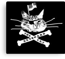 Keyboard Cat Pirate Canvas Print