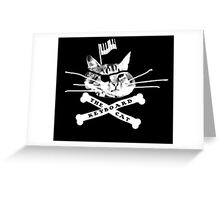 Keyboard Cat Pirate Greeting Card
