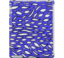 Random doodle 1 blue with leaf flakes  iPad Case/Skin
