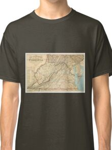 Vintage Map of Virginia (1863) Classic T-Shirt