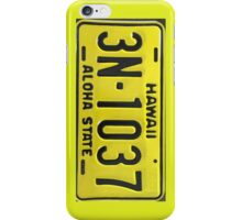 Hawaii Aloha State Licence Plate iPhone Case/Skin