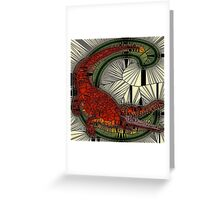 Alphabet Mosaic Letters - C Greeting Card