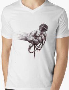 Hardcore Fist Mens V-Neck T-Shirt