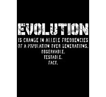 What is Evolution?... Photographic Print